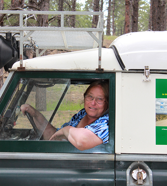 TeriAnn Wakeman in Land Rover Dormobile